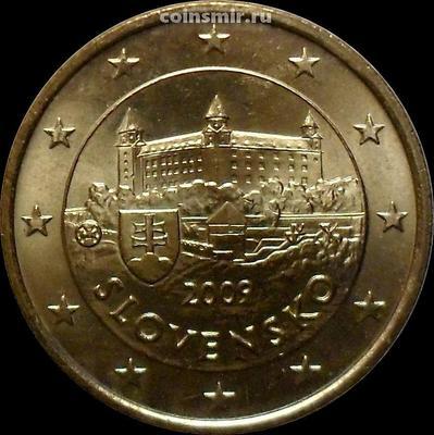 50 евроцентов 2009 Словакия. Замок Братиславский Град.