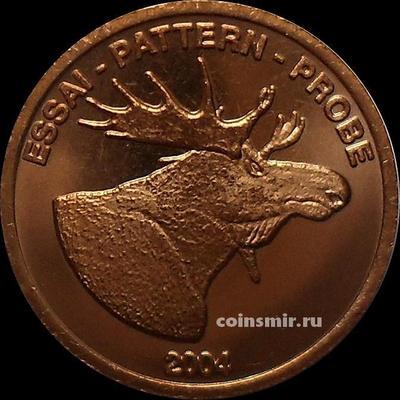 2 евроцента 2004 Норвегия. Лось. Европроба. Ceros.