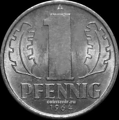 1 пфенниг 1964 A Германия ГДР.