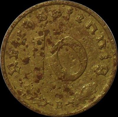 10 пфеннигов 1938 В Германия.