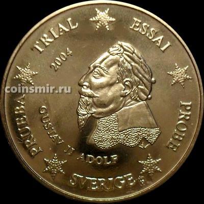 20 евроцентов 2004 Швеция. Европроба. Specimen. Король Густав II Адольф.