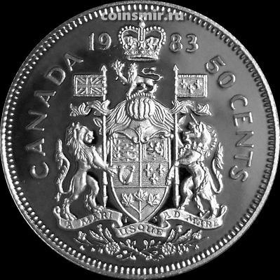 50 центов 1983 Канада. Пруф.