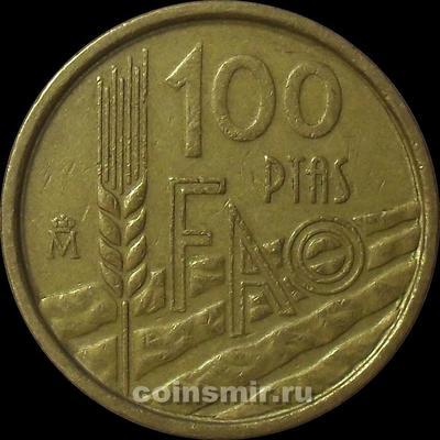 100 песет 1995 Испания. ФАО. VF.