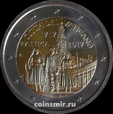 2 евро 2017 Ватикан. 100 лет явлению Девы Марии в Фатиме.
