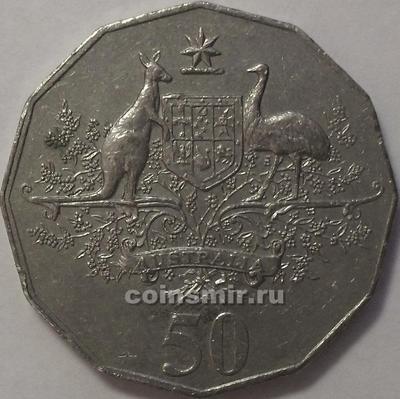 50 центов 2001 Австралия. 100 лет Федерации.