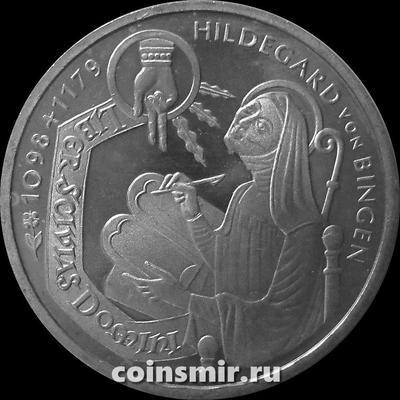 10 марок 1998 G Германия (ФРГ). 900 лет со дня рождения святой Хильдегард фон Бинген.