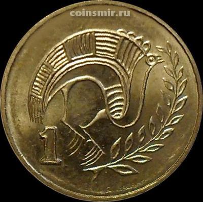 1 цент 2004 Кипр. Стилизованная птица.