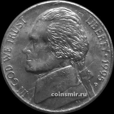5 центов 1995 Р США. Томас Джефферсон.