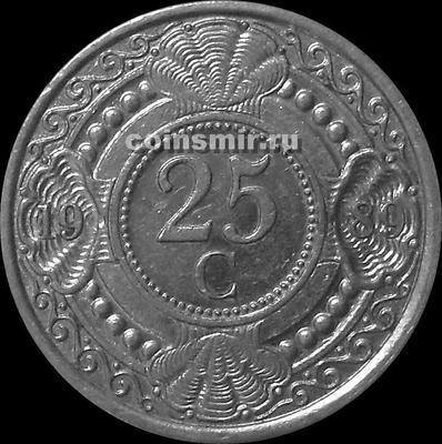25 центов 1989 Нидерландские Антильские острова. (в наличии 1990 год)