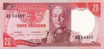 20 эскудо 1972 Ангола.