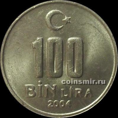 100000 лир 2004 Турция.
