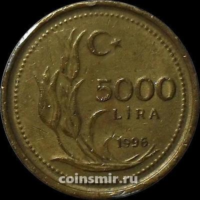 5000 лир 1996 Турция.