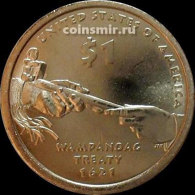1 доллар 2011 D США. Трубка мира.