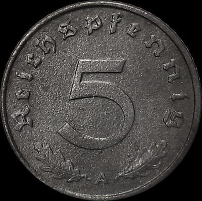 5 пфеннигов 1942 А Германия. Третий рейх.