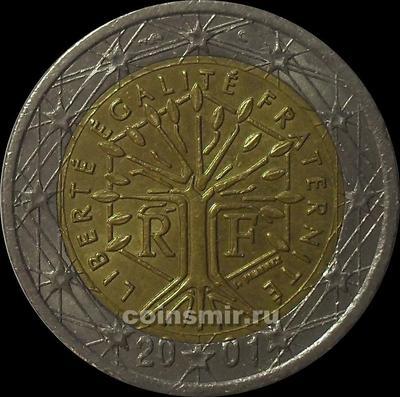 2 евро 2001 Франция.