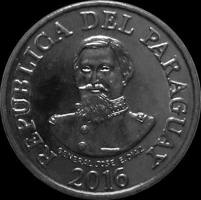 100 гуарани 2016 Парагвай. Хосе Эдувихис Диас.