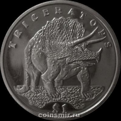1 доллар 2006 Сьерра-Леоне. Трицератопс.