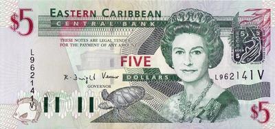 5 долларов 2003 Восточные Карибы.