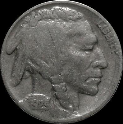 5 центов 1929 США. Индеец.