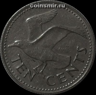 10 центов 1980 Барбадос. Чайка.