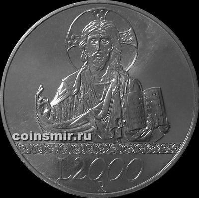 2000 лир 1998 Италия. Иисус Христос.