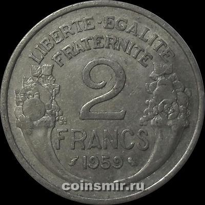2 франка 1959 Франция.