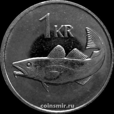 1 крона 1994 Исландия. Треска.