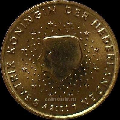 10 евроцентов 2000 Нидерланды. Беатрикс.