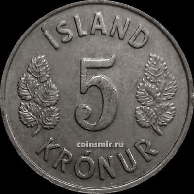 5 крон 1970 Исландия.