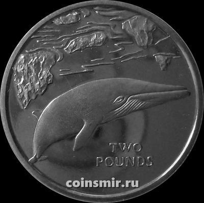2 фунта 2016 Южная Георгия и Южные Сандвичевы острова. Малый полосатик.
