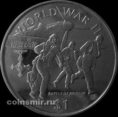 1 доллар 1997 Либерия. Британский крест за боевые заслуги.