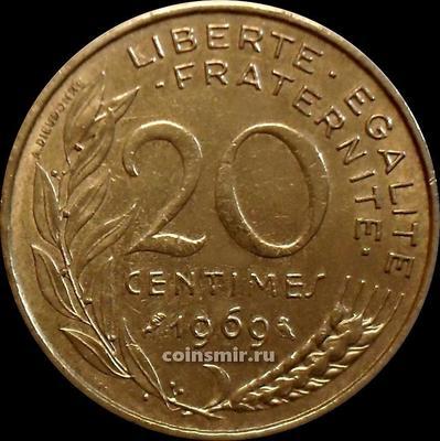 20 сантимов 1969 Франция.