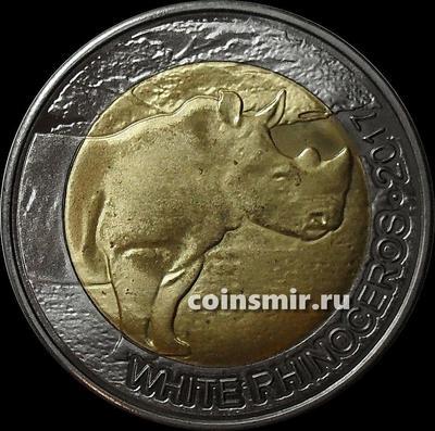 50 франков 2017 Буркина-Фасо  КФА BCEAO (Западная Африка).  Белый носорог.
