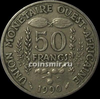 50 франков 1990  КФА BCEAO (Западная Африка). (в наличии 1997 год)