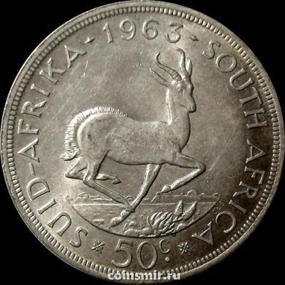 50 центов 1963 Южная Африка ЮАР. Газель. Ян ван Рибек.