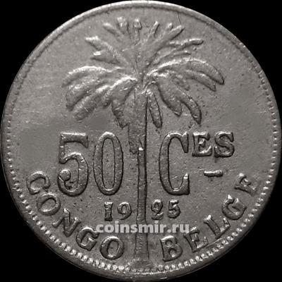50 сантимов 1925 Бельгийское Конго. BELGE.