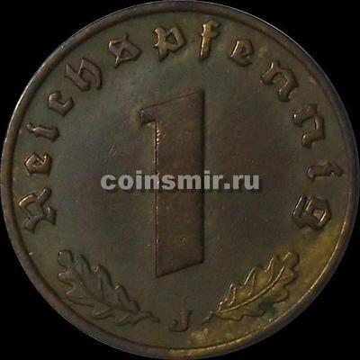 1 пфенниг 1937 J Германия.