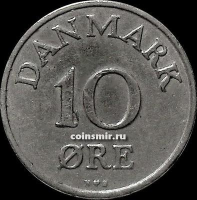 10 эре 1951 N;S Дания.