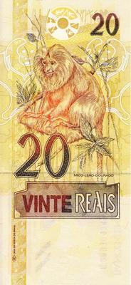 20 реалов 2002-2011 Бразилия.