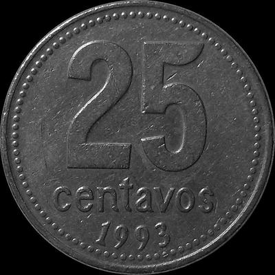 25 сентаво 1993 Аргентина.