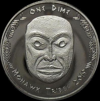 1 дайм (10 центов) 2019 племя Мохоки.