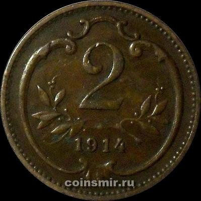 2 геллера 1914 Австрия.