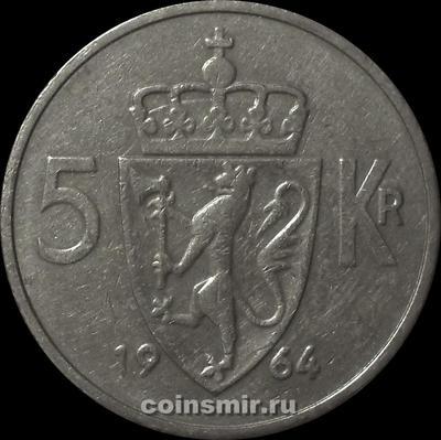 5 крон 1964 Норвегия.