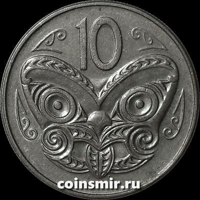 10 центов 1979 Новая Зеландия. Маска Маори. (в наличии 1978 год)