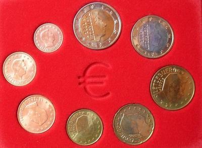 Набор евро монет 2002 Люксембург.