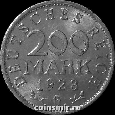 200 марок 1923 G Германия.