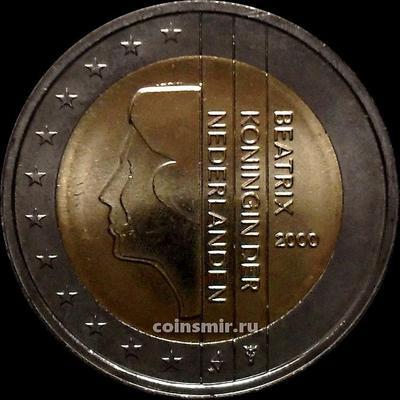 2 евро 2000 Нидерланды. Регулярный чекан.