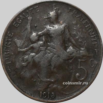 5 сантимов 1913 Франция.