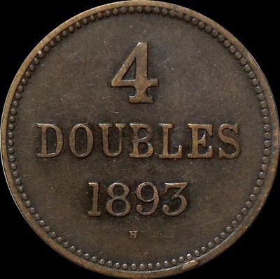 4 дубля 1893 Н Гернси.