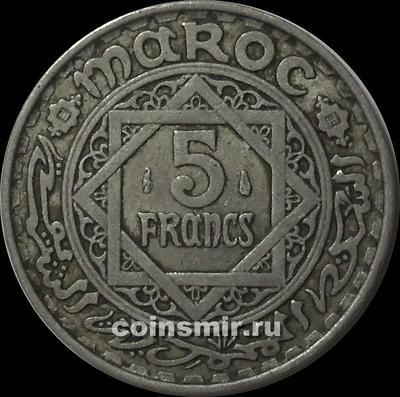 5 франков 1951 Марокко.